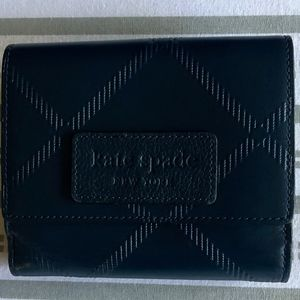 Kate Spade Navy Small Bifold Wallet/French Purse